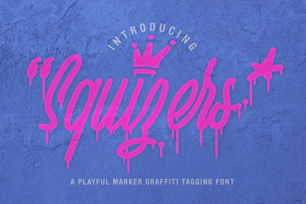 Squizers Graffiti Tagging Font example image 1