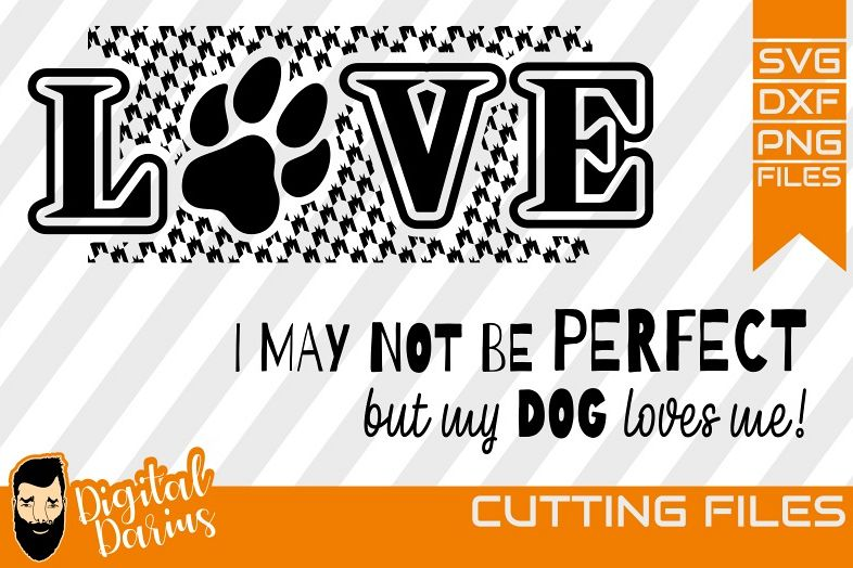 2x Love Dog svg, Mongrel, Puppy, Doggy, Cut File example image 1