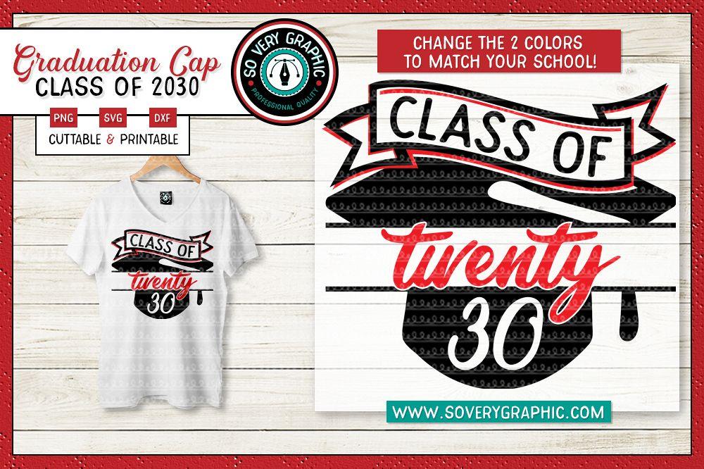 Class of 2030 Graduation Cap SVG Cut File example image 1