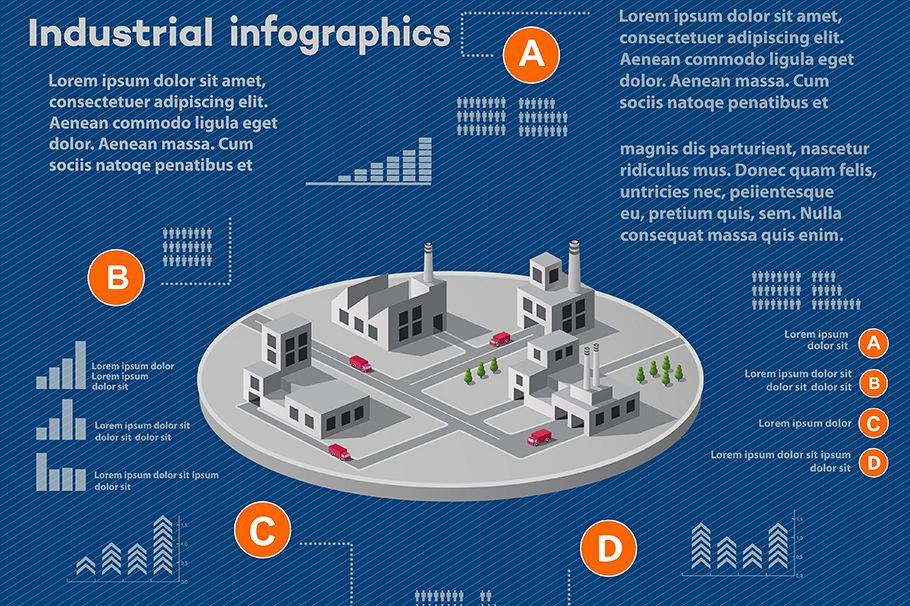 Industrial infographics example image 1