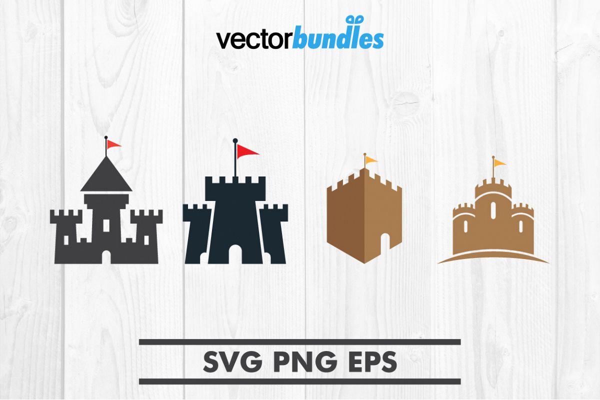 Castle clip art svg example image 1