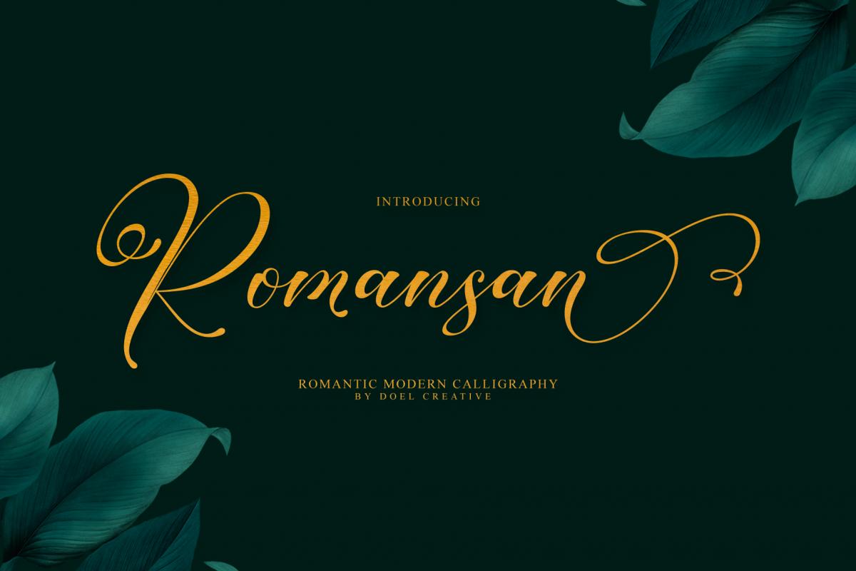 Romansan | Romantic Calligraphy example image 1