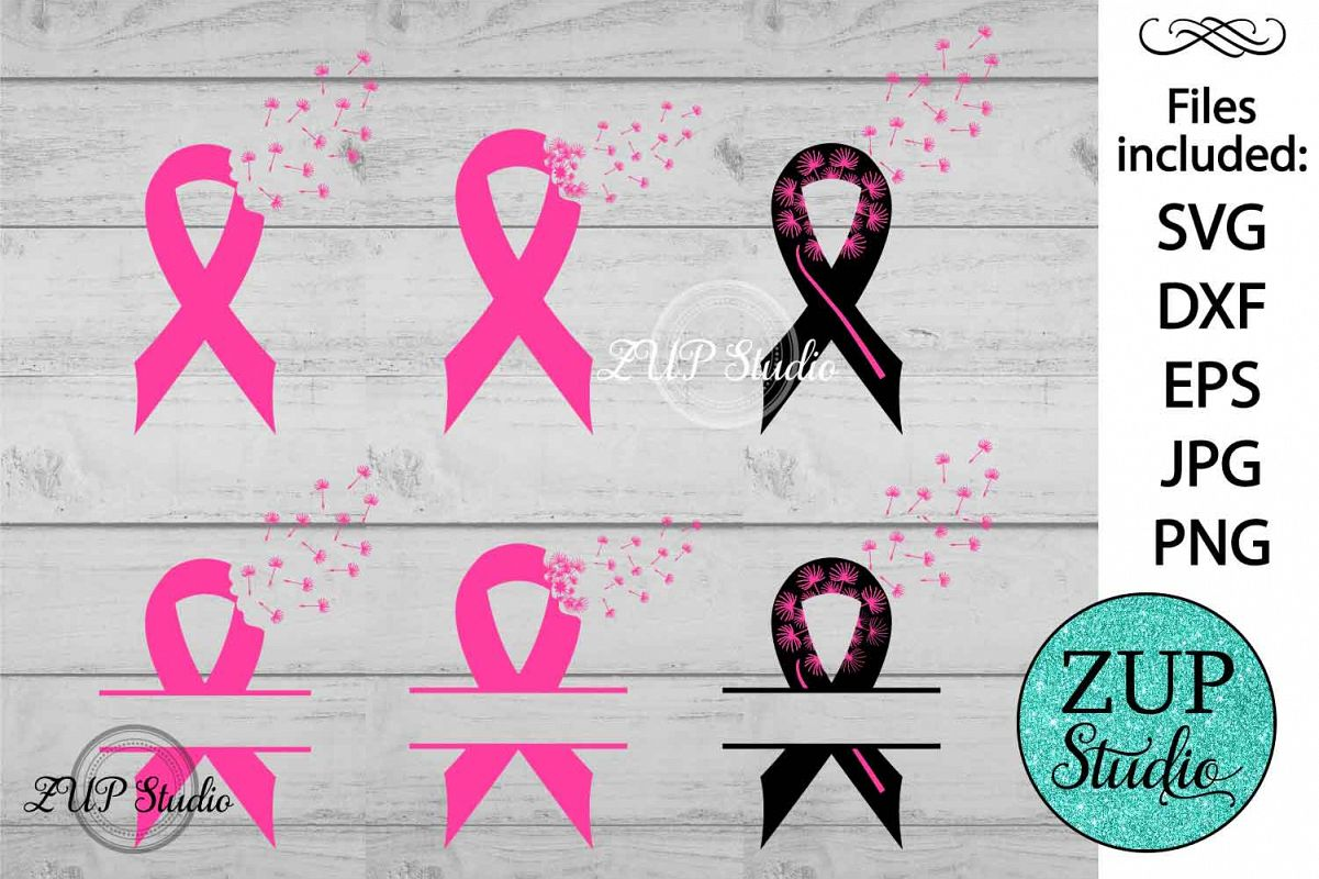 Breast Cancer Ribbon cutting files svg 14 example image 1