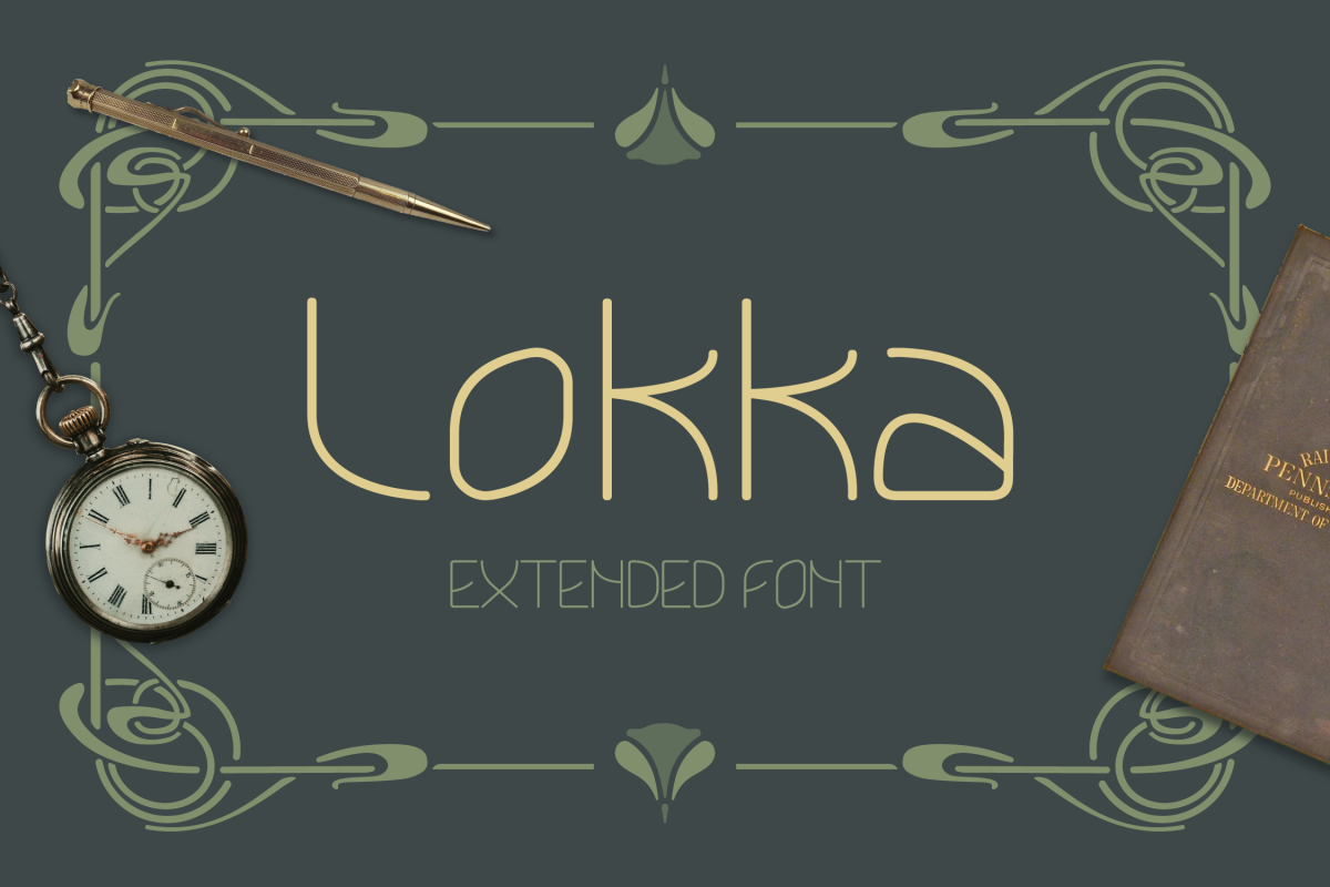Lokka Extended Font example image 1