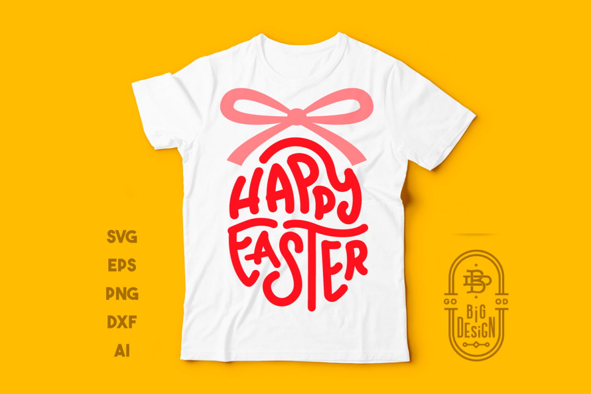 Happy Easter SVG - Easter Saying SVG Cut File example image 1