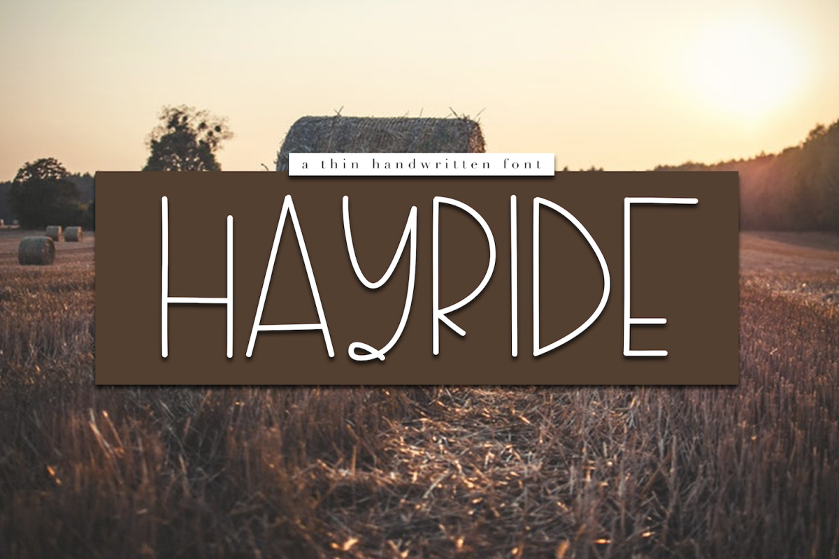 Hayride - A Handwritten Font example image 1