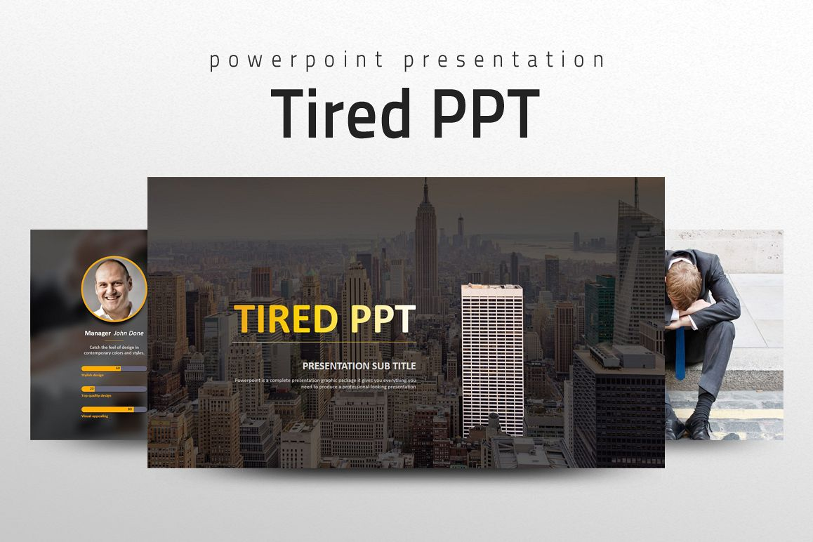 Tired PPT example image 1