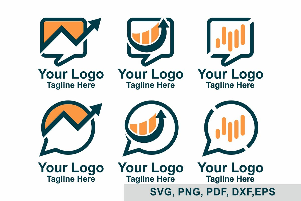 Chat Logo bundles, Business Logo Bundles, SVG File example image 1