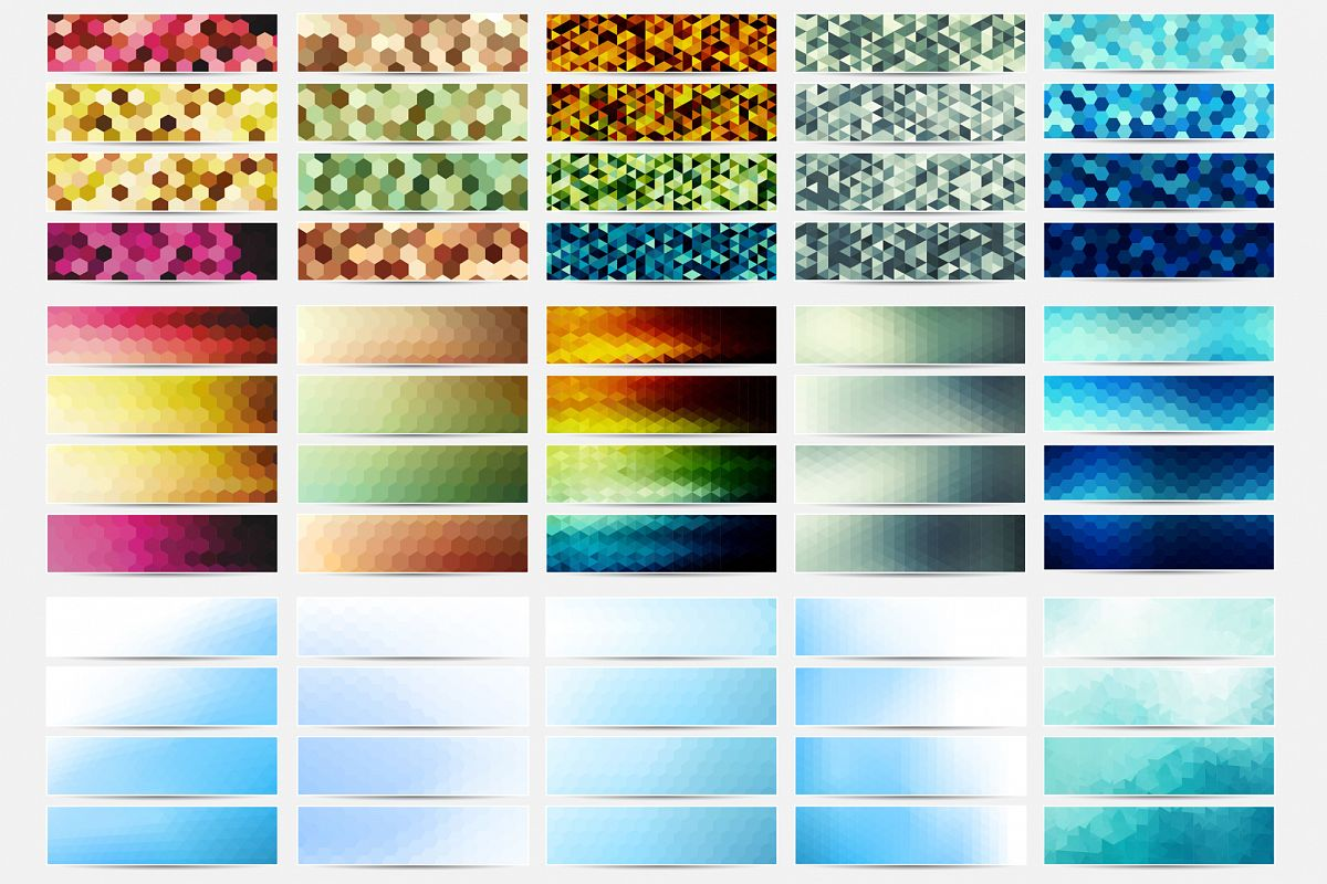 Colorful Banners Collection. example image 1