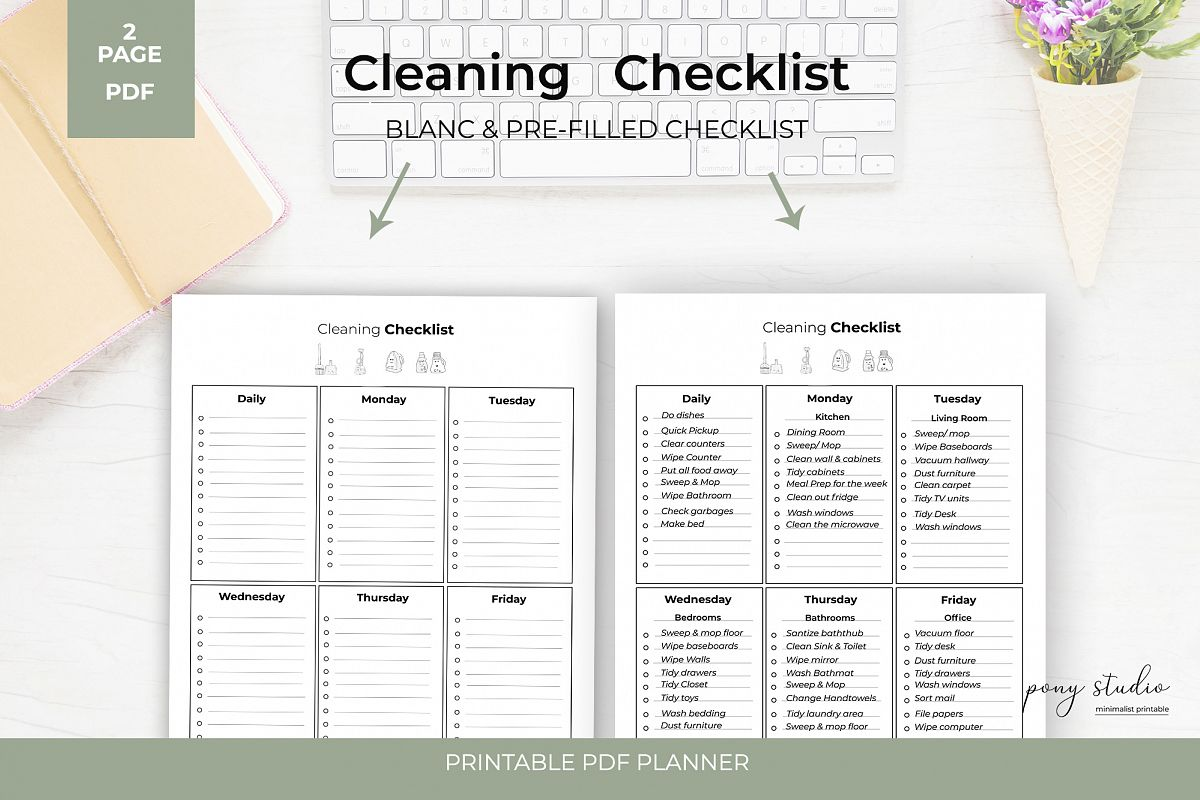 photograph regarding Printable Cleaning Checklist named Cleansing Listing Printable - Cleansing Listing Printable