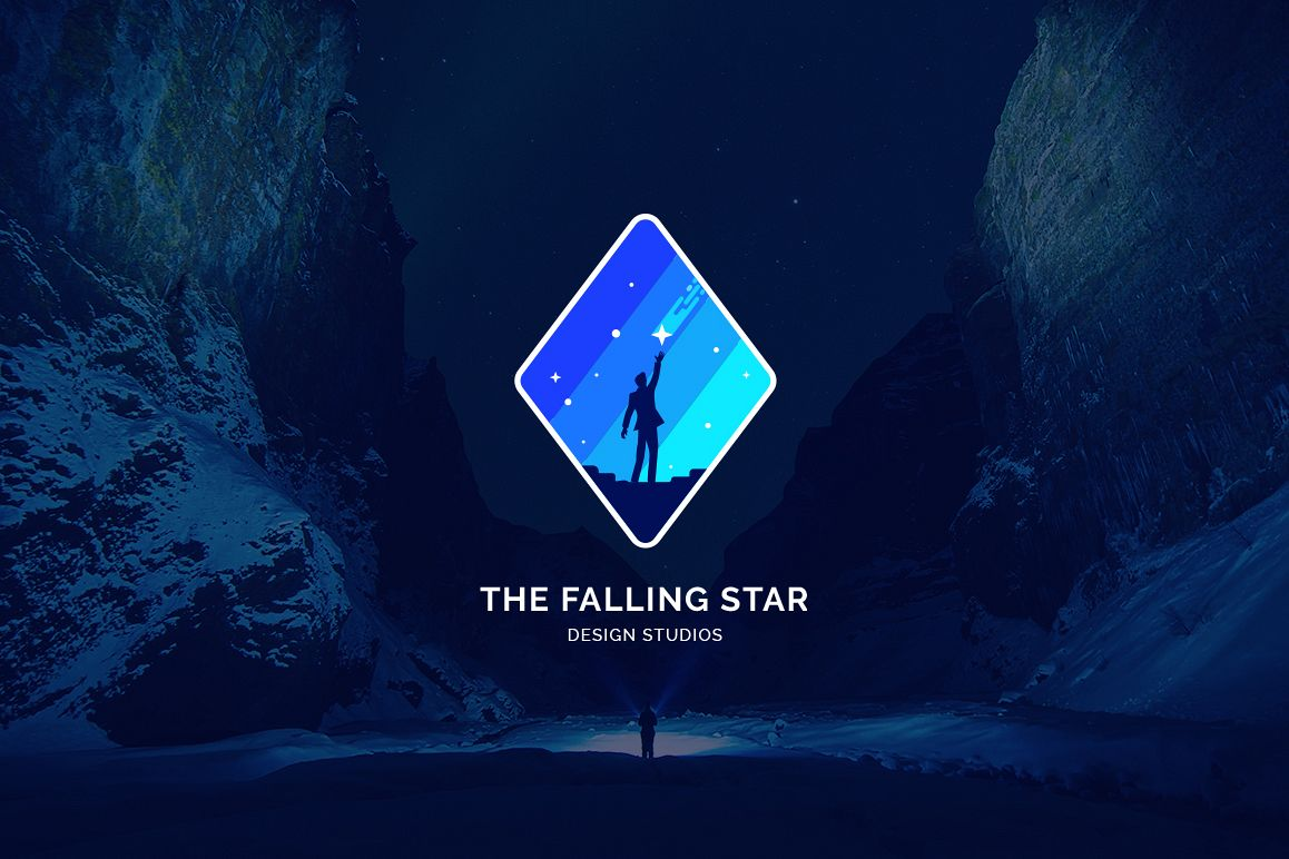 Men Catch a Falling Star Logo example image 1