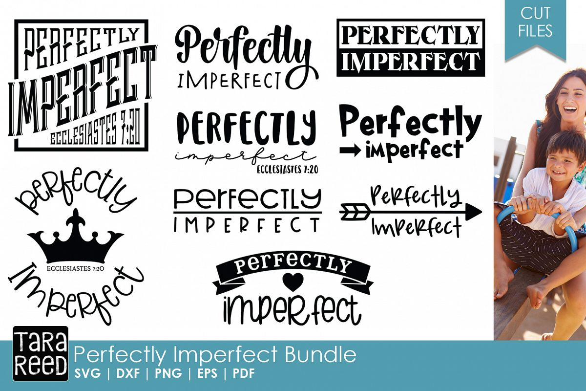 Perfectly Imperfect - SVG & Cut Files for Crafters example image 1