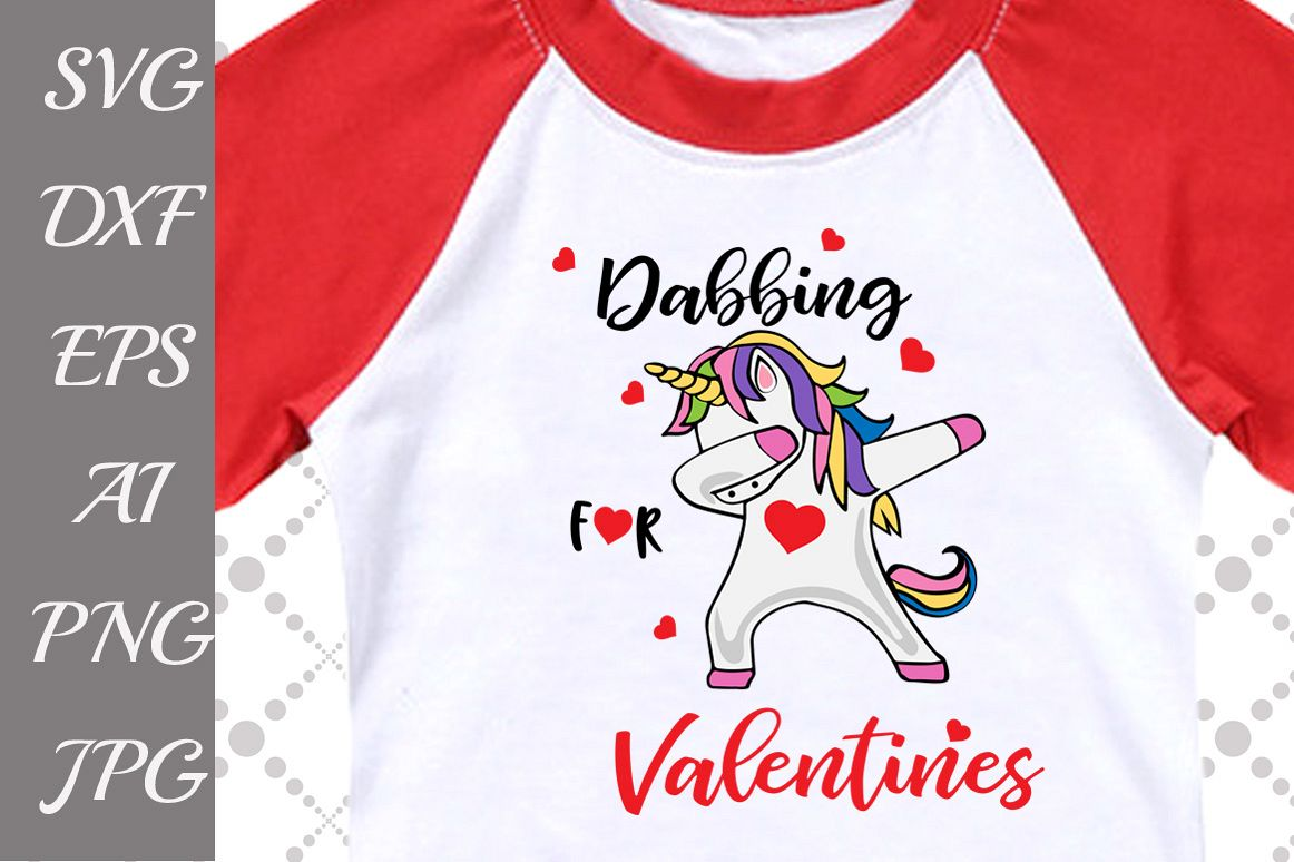 Dabbing for Valentines Svg example image 1