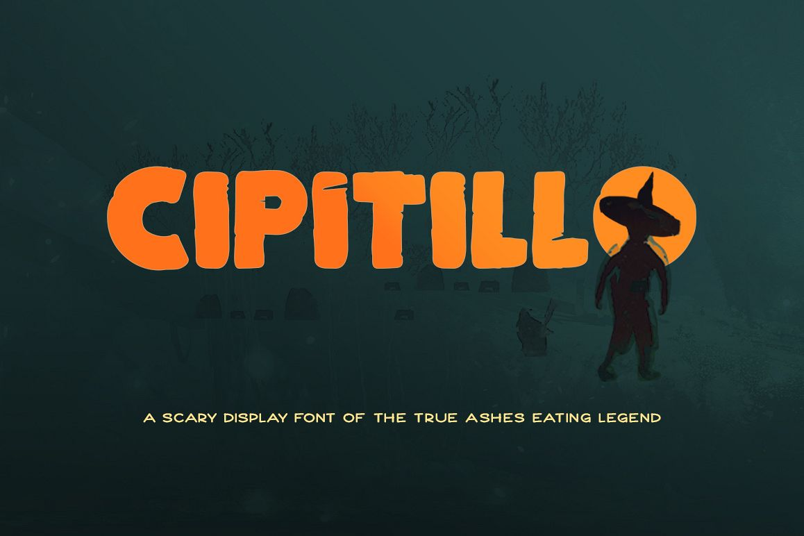 Cipitillo Scary Font example image 1