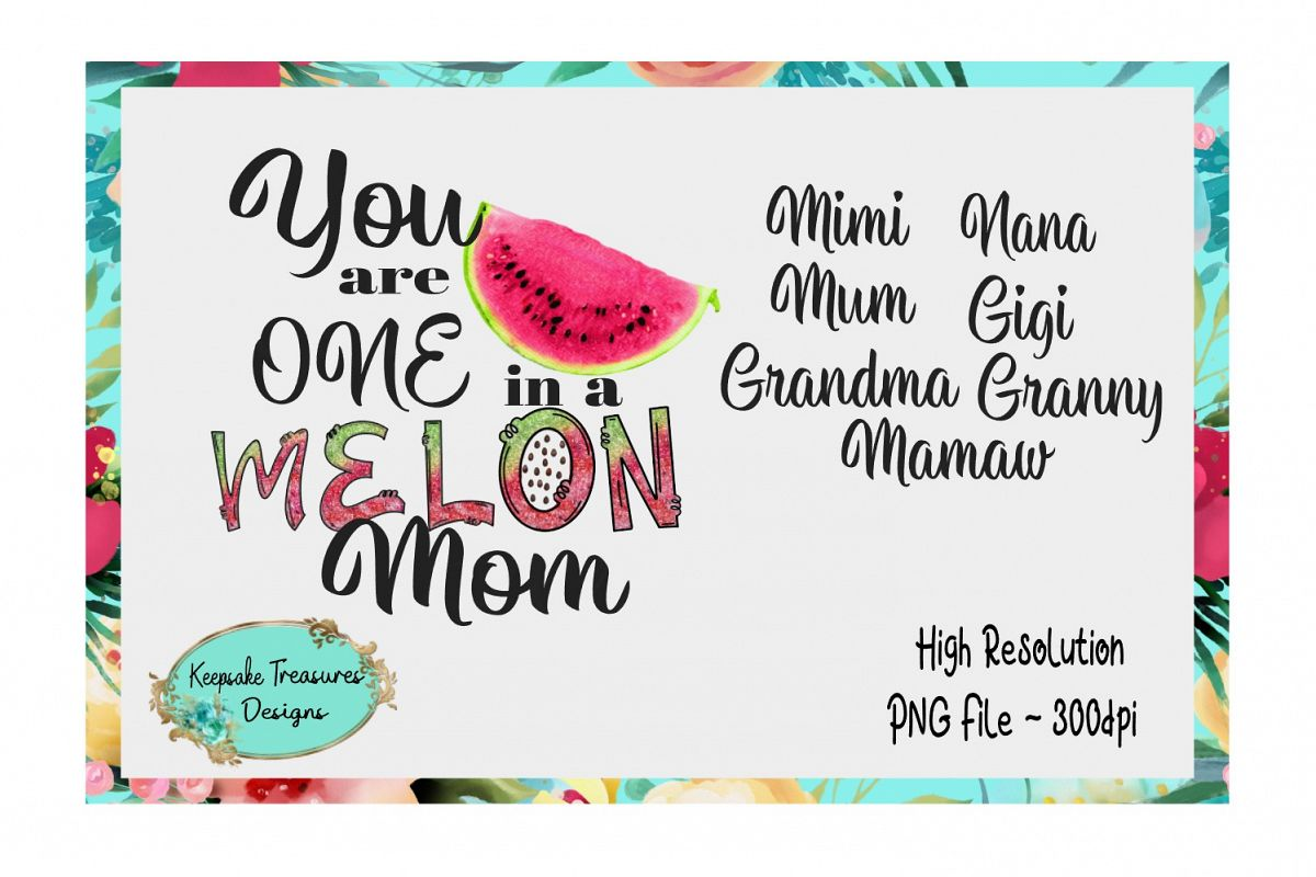 You are One in a Melon Bundle, Sublimation Design example image 1