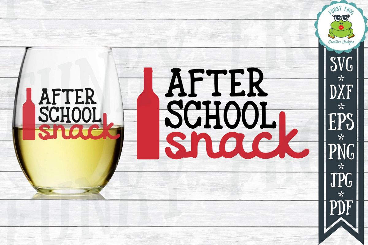 After School Snack - Teacher SVG Cut File example image 1