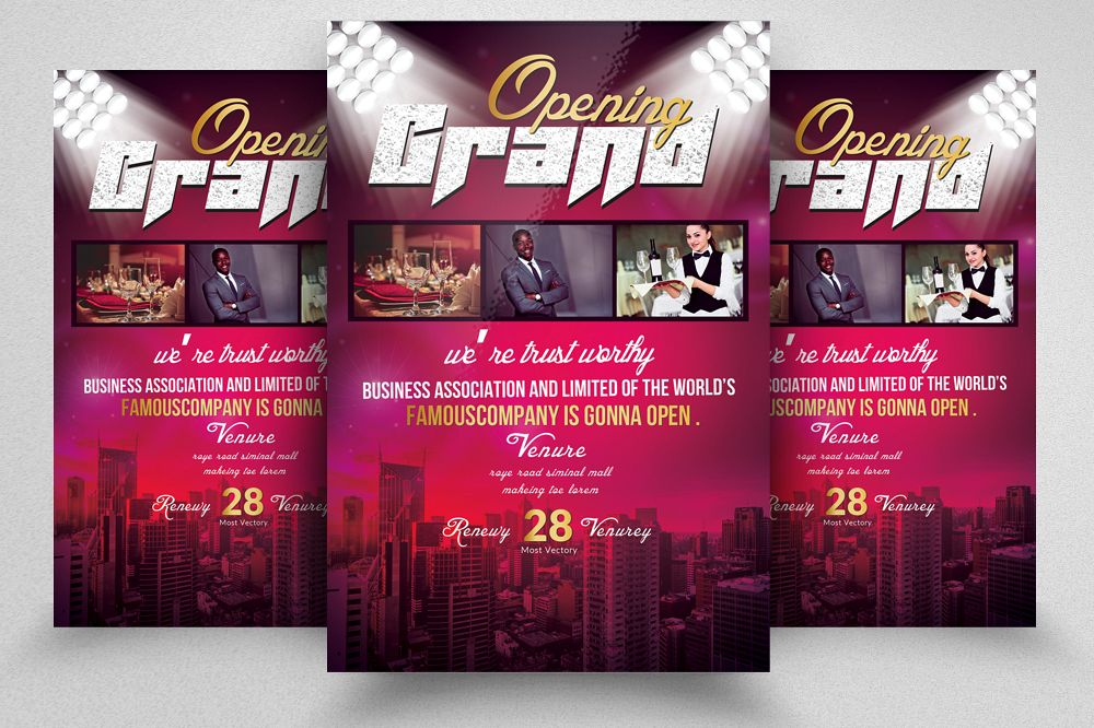 Restaurant Grand Opening Flyer Template Example Image 1