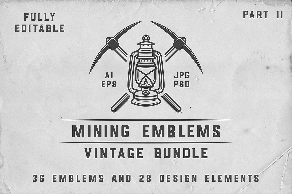 36 Vintage Mining Emblems part 2 example image 1