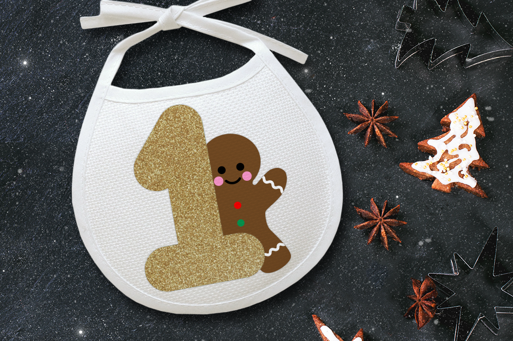 First Christmas Gingerbread Man Svg File Cutting Template