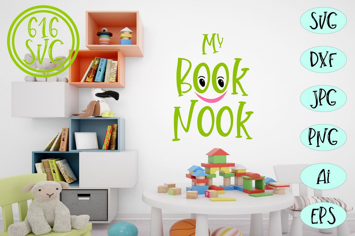 My Book Nook SVG, DXF, Ai, PNG example image 1