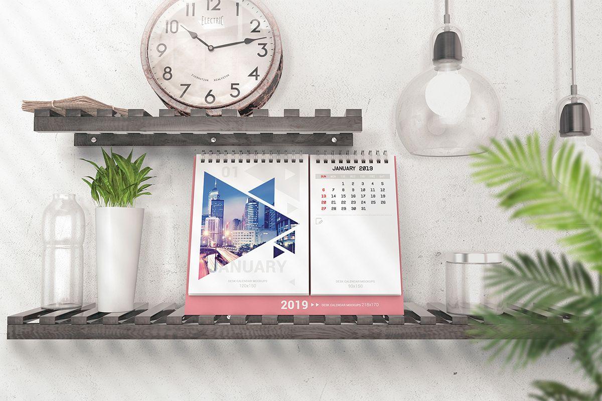 Various Desktop Calendars Mockup example image 1