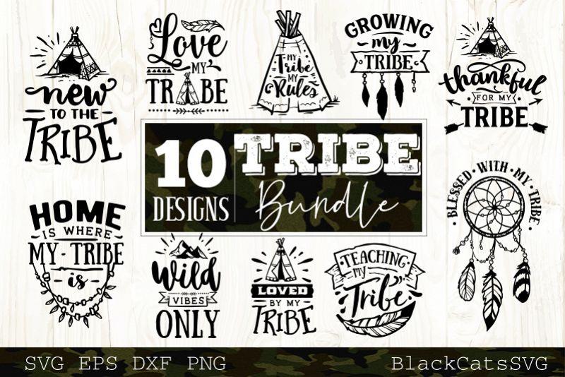 Tribe bundle SVG 10 designs Wild SVG bundle vol 4 example image 1