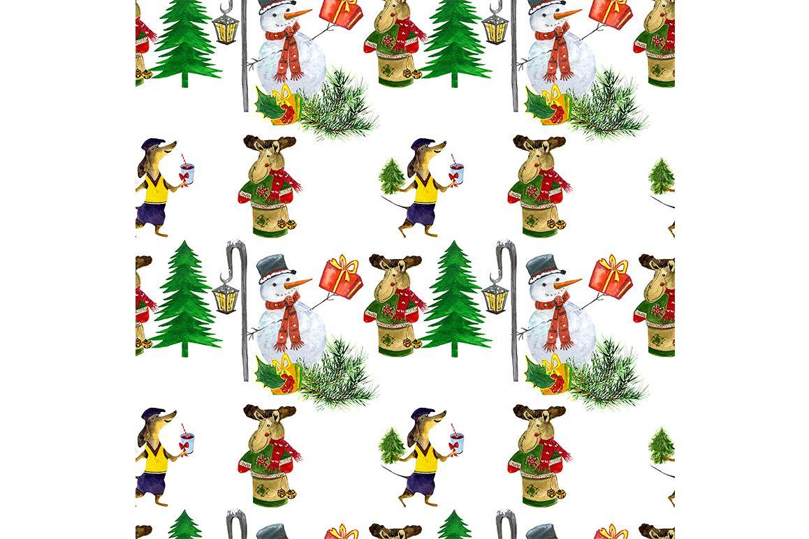 Christmas Tree Pattern.Seamless Christmas Pattern