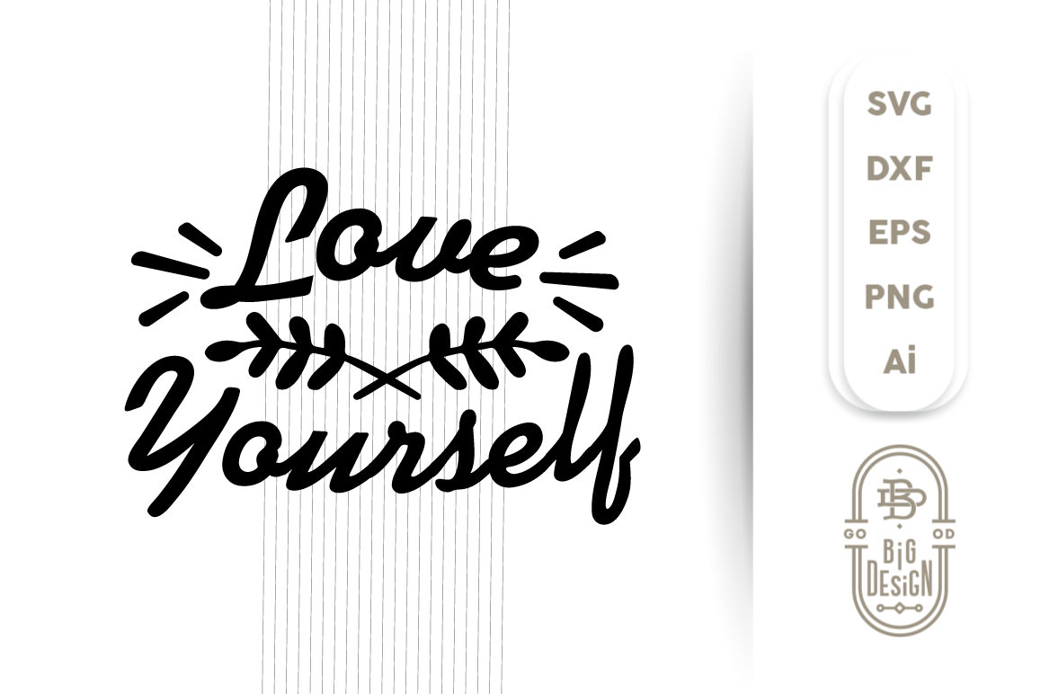 SVG Cut File - LOVE Yourself example image 1