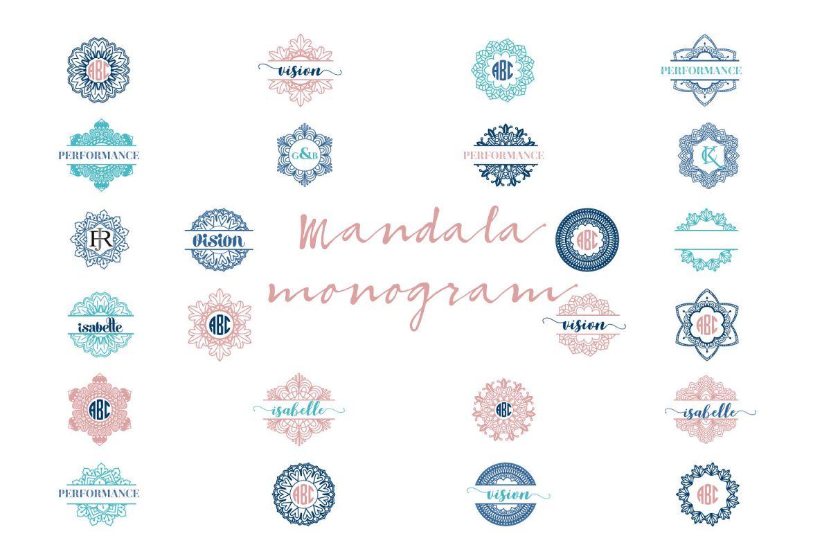 Mandala Monogram Logo Bundle example image 1
