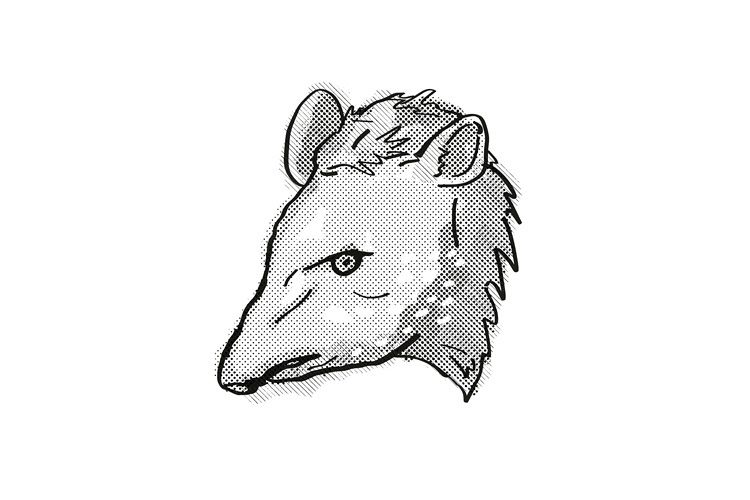 Tapir Endangered Wildlife Cartoon Retro Drawing example image 1