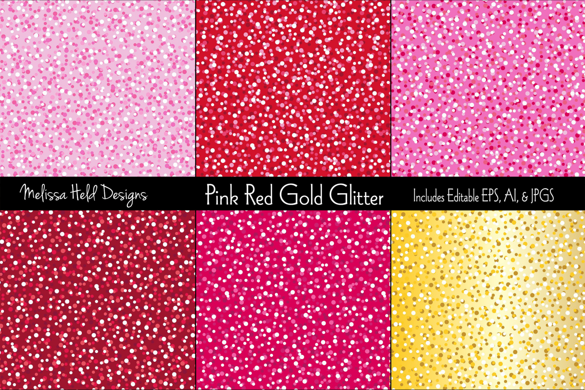Pink, Red, & Gold Glitter Background example image 1