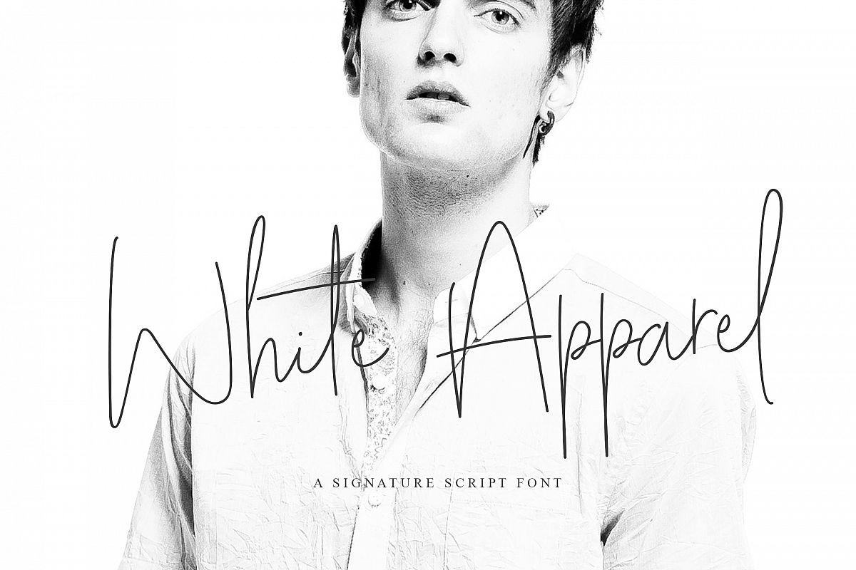 White Apparel | Script Font example image 1