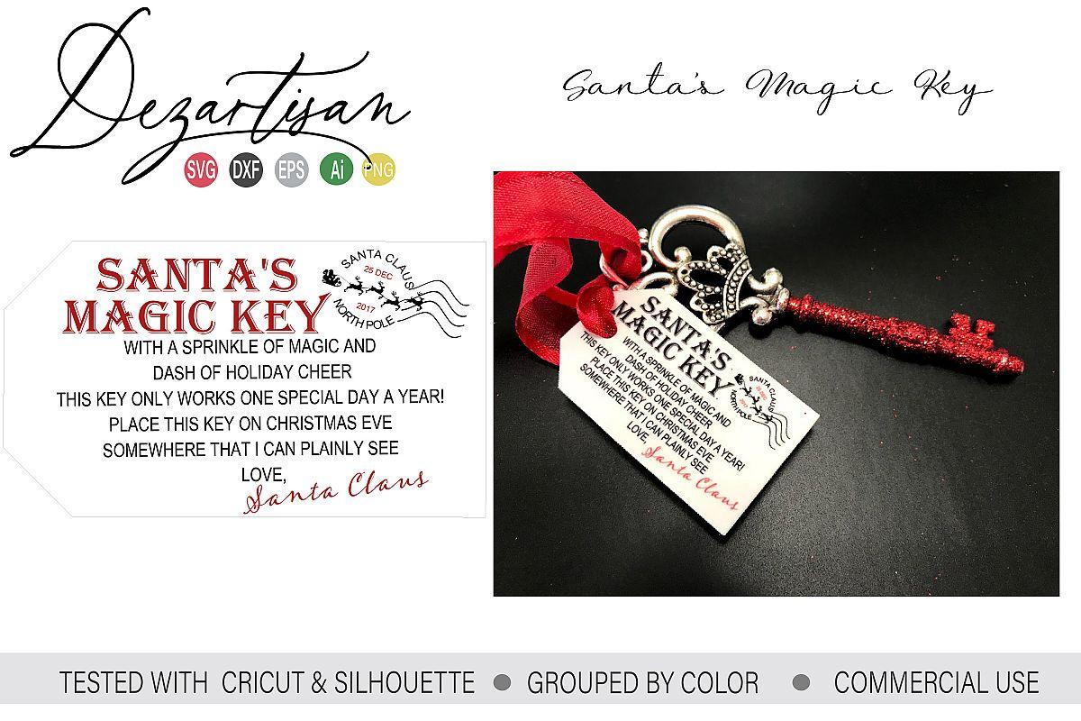Santa's Magic Key SVG DXF PNG cut file example image 1