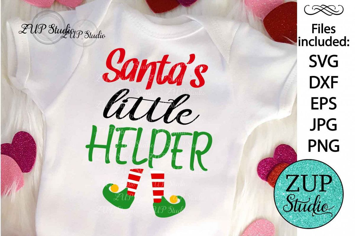 Santa's little helper Digital Cutting files file 121 example image 1