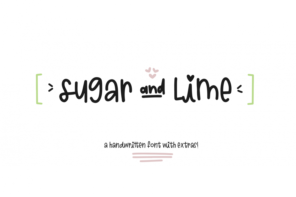 Sugar and Lime - A Fun Font with Doodles! example image 1