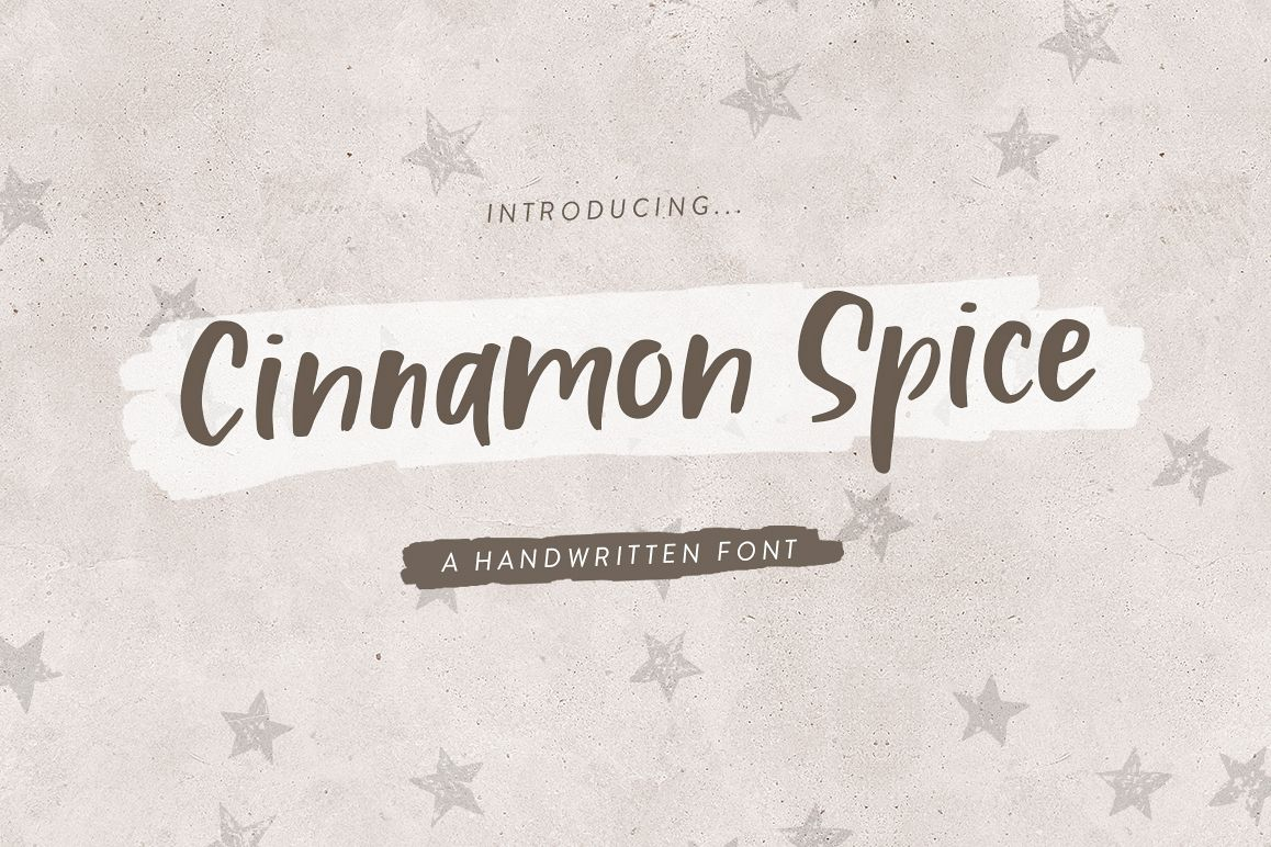 Cinnamon Spice - Handwritten Font example image 1
