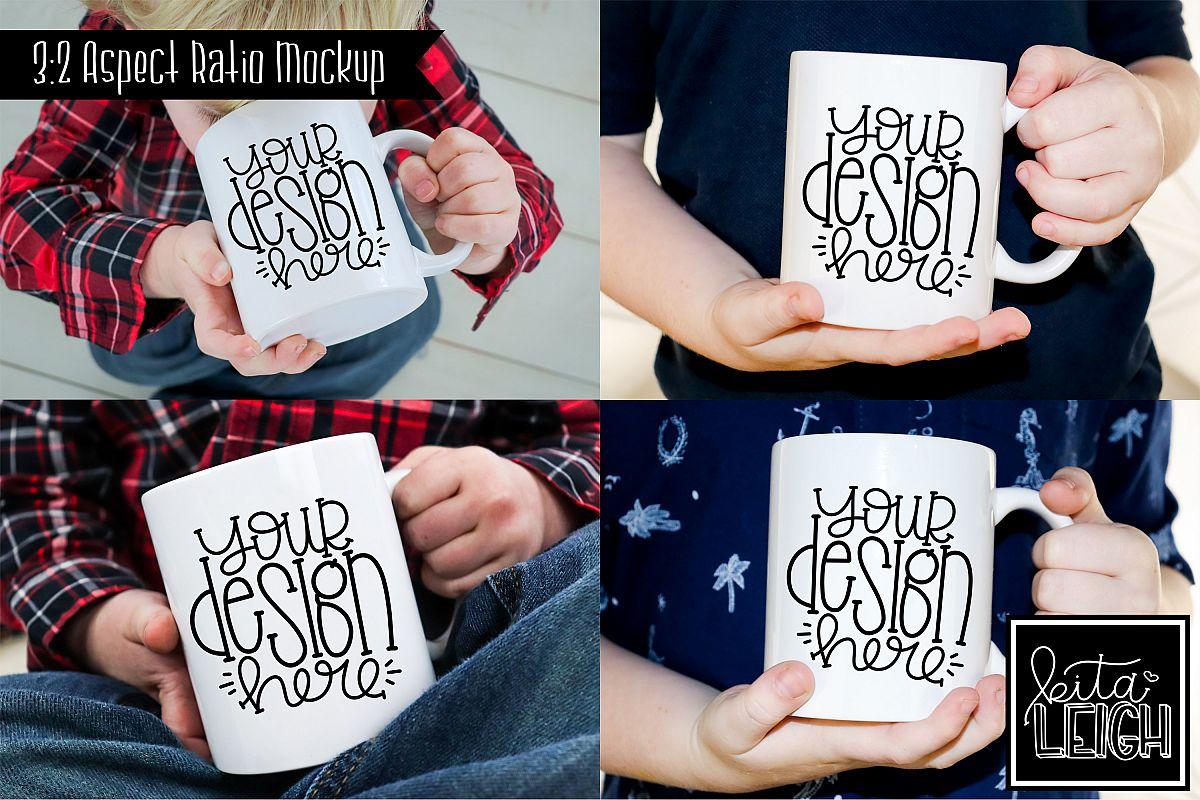 Child Mug Mockup Bundle example image 1