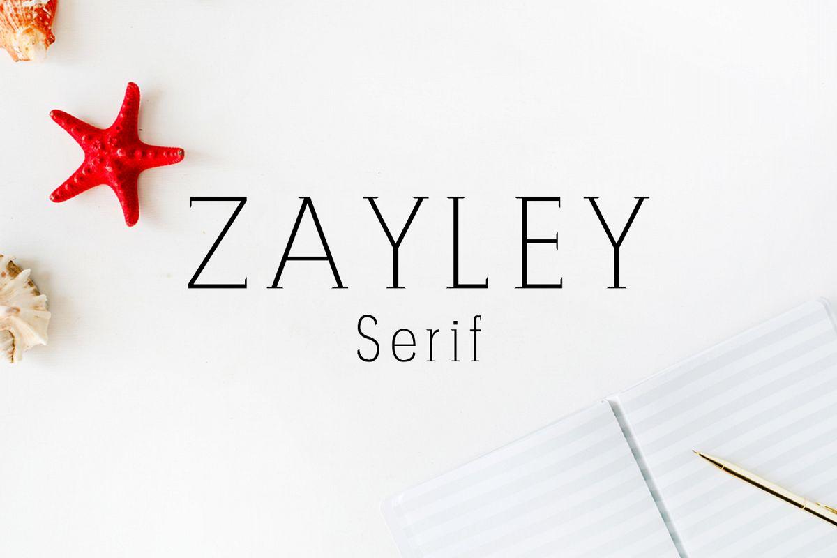 Zayley Serif Regular Font example image 1