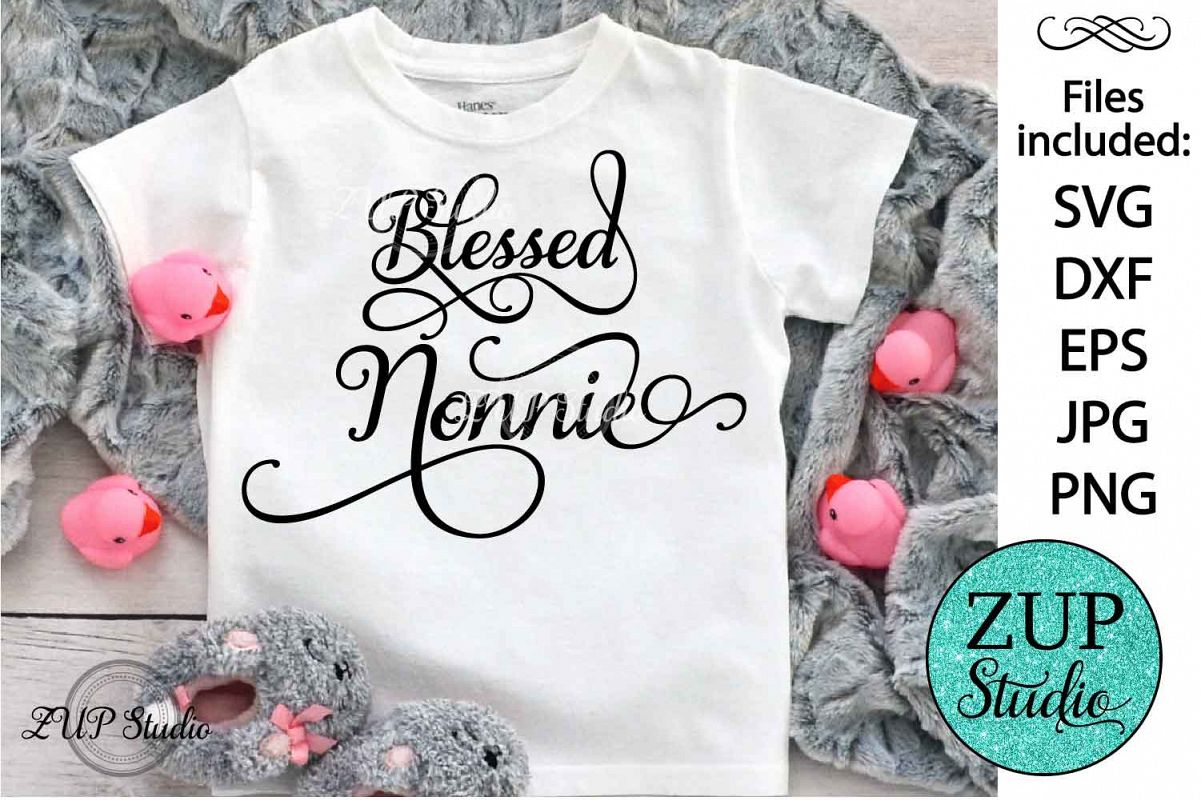 Blessed nonnie Digital Cutting files file 112 example image 1
