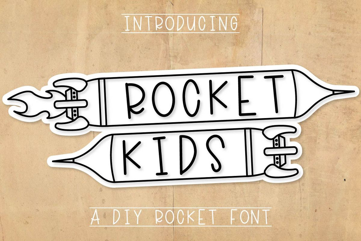 Rocket Kids - A Type-able Rocket Font example image 1