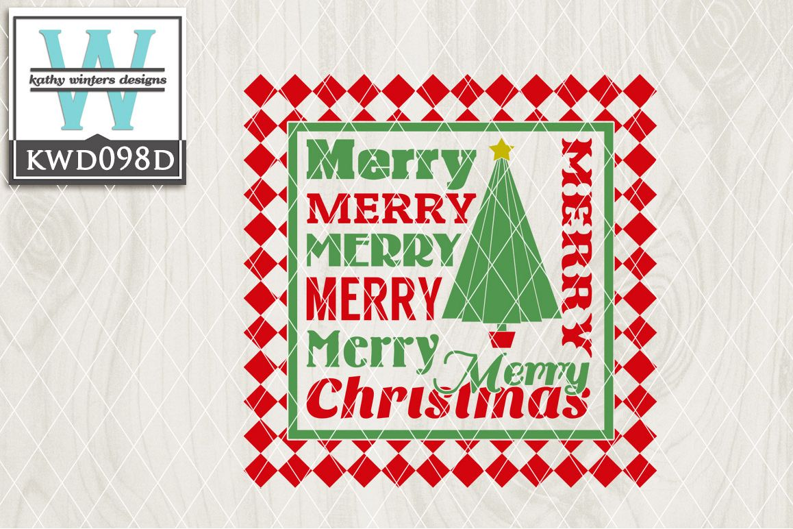 Christmas Cutting File KWD098D example image 1