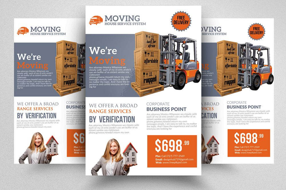 Moving House Flyer Template