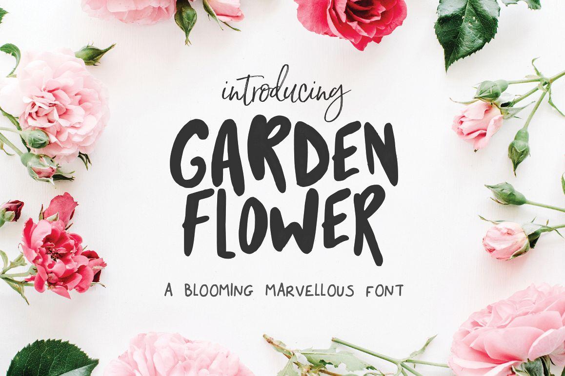 Garden Flower Font example image 1