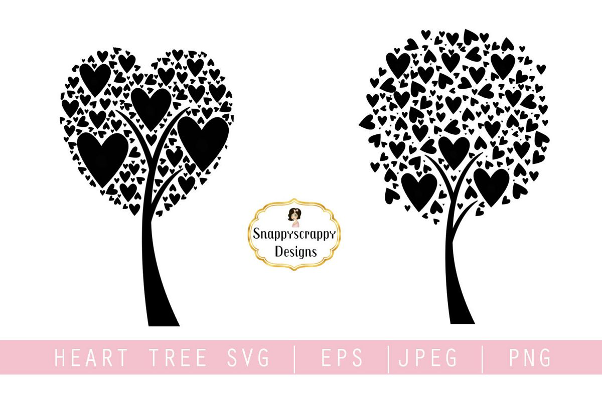 Tree Hearts SVG example image 1