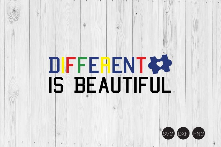 Different is Beautiful SVG example image 1