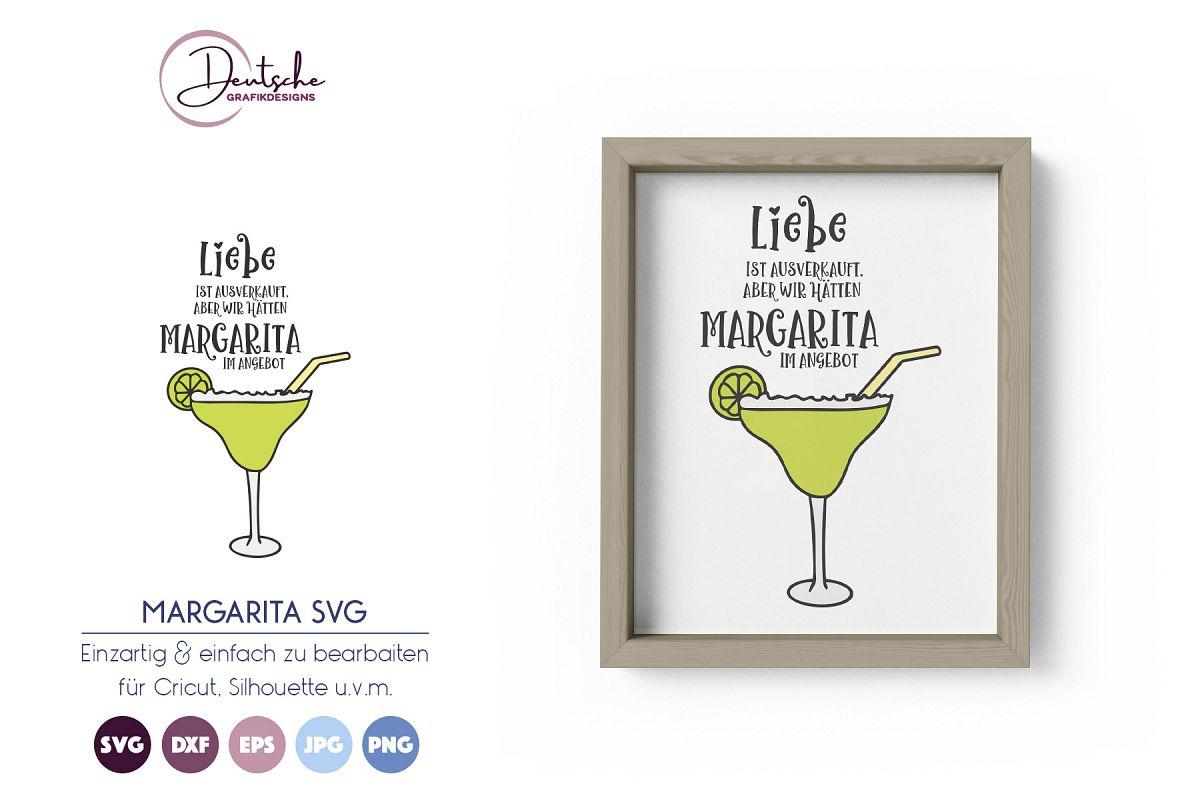 Margarita SVG | Cocktail Zeit | Liebe SVG example image 1