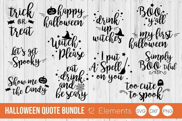 Halloween Quote.Halloween Quote Saying Svg Dxf Png Bundle Cut Files