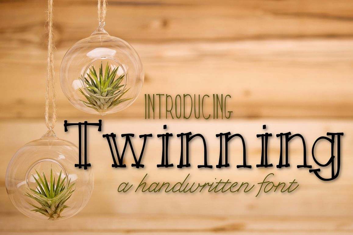 Twinning a Handwritten Font example image 1