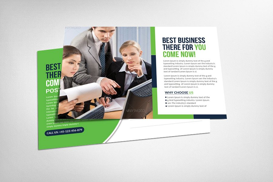 Global Business Postcard Template example image 1