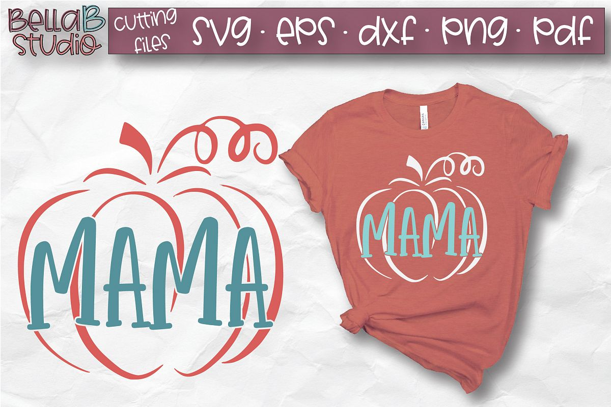 Mama Pumpkin SVG, Pumpkin SVG, Fall, Autumn SVG example image 1